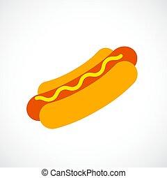 hot-dog, vecteur, icône