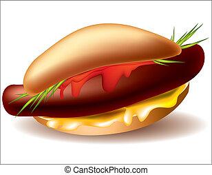 hot-dog - Vector image  hot-dog for your design