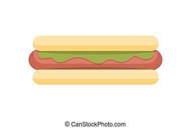Hot Dog Vector Illustration in Flat Design