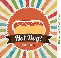 Hot dog grafica stile afflitto cane caldo pulito for Piani casa com classico cane trotto stile