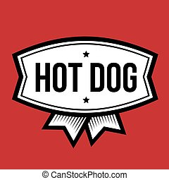 Hot Dog vintage logo