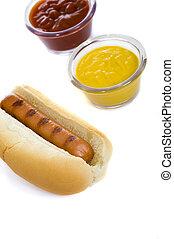 Hot Dog with Ketchup and Mustard