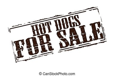 Hot dogs for sale - Rubber stamps with text hot dogs for...