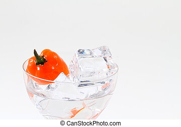 Hot drink - Habanero chili in small glass