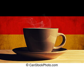 hot drink with Germany flag