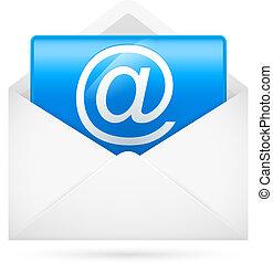 Hot e-mail. Illustration for design on white background
