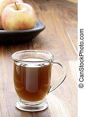 hot fresh apple cider