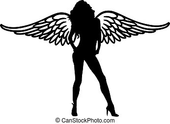 Hot girl with big wings