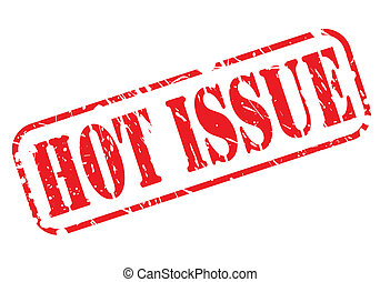 Hot issue red stamp text on white