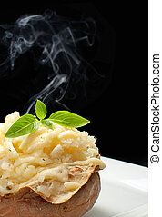 Hot jacket potato - Hot oven cooked jacket potato