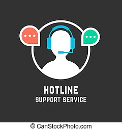 hot line with white assistant manager