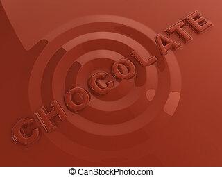 hot liquid chocolate letters