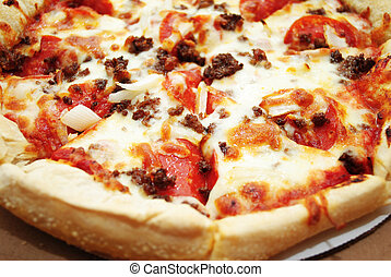 Hot Meat Pizza