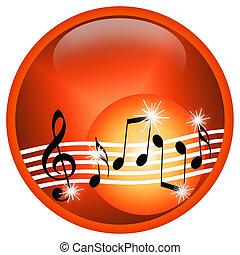 Hot Music - Music illustration with random musical symbols...
