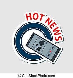 Hot news emblem