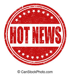 Hot news stamp
