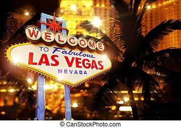 Hot Night in Las Vegas. Vegas Heat Concept Image with Las...