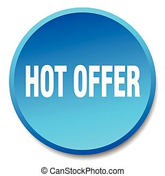 hot offer blue round flat isolated push button