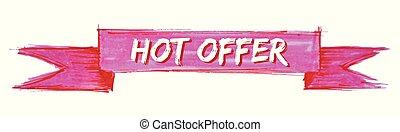 hot offer ribbon