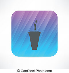 hot paper cup icon