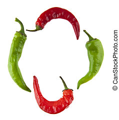 hot pepper isolated on white background