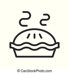 hot pie, sweets and dessert outline icon