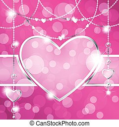 Hot pink background with heart