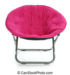 Hot Pink Chair Over White - Individual hot pink fuzzy fabric...