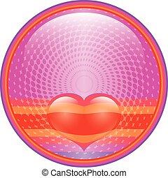 Heart internet button