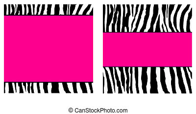 Hot Pink Zebra Paper Set - zebra set that can be used for on...