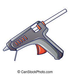 Hot pistol glue icon, cartoon style - Hot pistol glue icon. ...