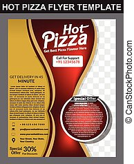 Hot Pizza Store Flyer Template design