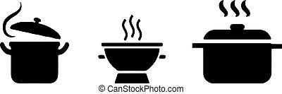 hot pot icon isolated on white background