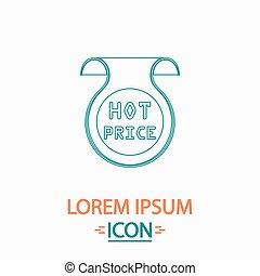 Hot price computer symbol