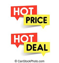 Hot Price, Hot deal label sticker