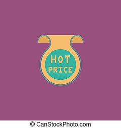 Hot price sticker, Badge, Label