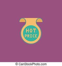 Hot price sticker, Badge, Label