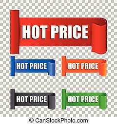 Hot price sticker. Label vector illustration on isolated background