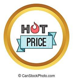 Hot price sticker vector icon