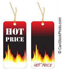 Set of two tags for hot price