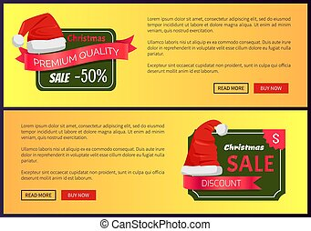 Hot Prices Christmas Sale Web Banners Push Buttons
