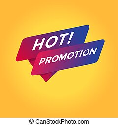 Hot promotion tag sign.