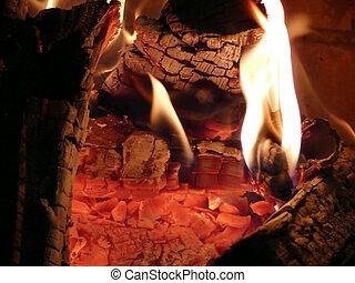 Hot red coals