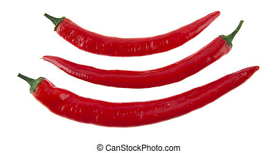 hot red pepper isolated on white background