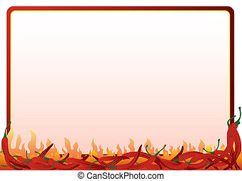 Hot red pepper - The frame of the red hot chili peppers....