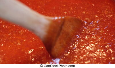 Hot Red Tomato Salsa Sauce