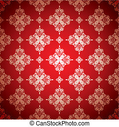 hot red wallpaper silver