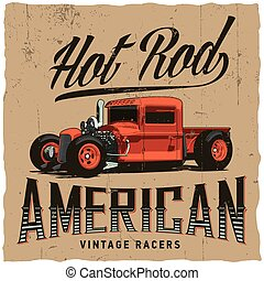 Hot Rod American Racers Poster