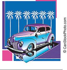 Hot Rod Design - 40's Ford In Design, Beach