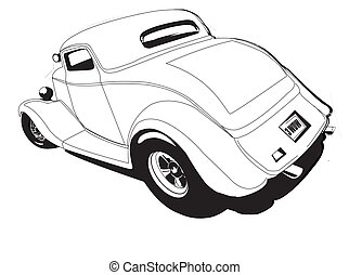 Hot Rod - 3 window coupe hot rod